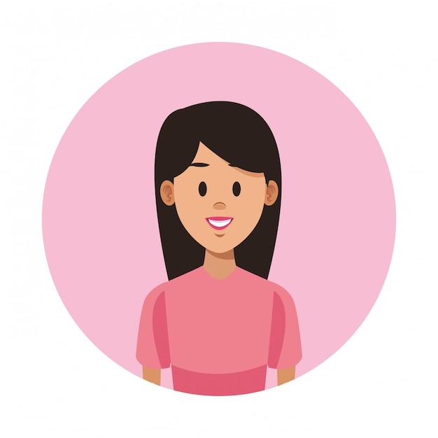 Premium Vector Woman Profile Cartoon