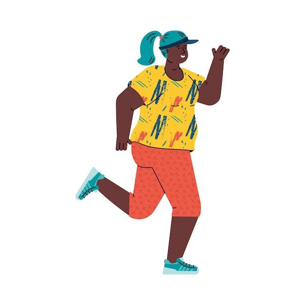 Иллюстрация бегуна женщины Premium векторы