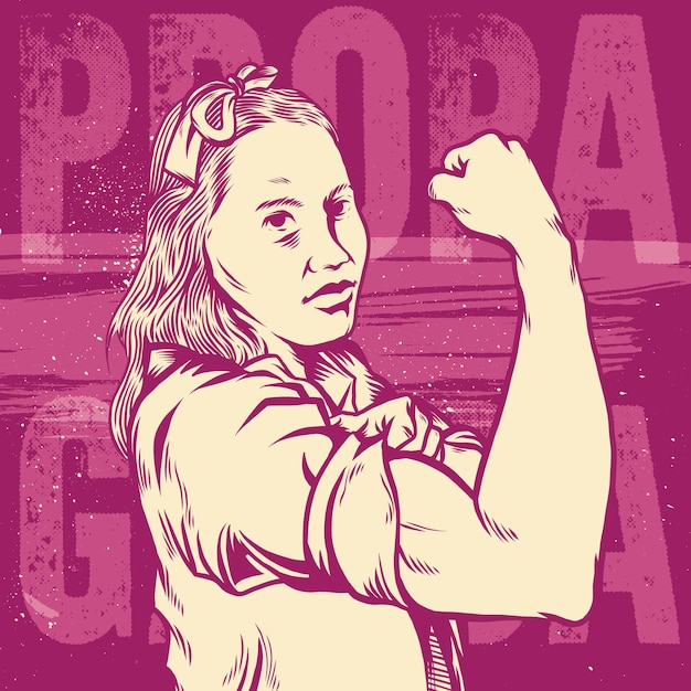 Womans Fistsymbol Of Female Power And Industry Vector Premium