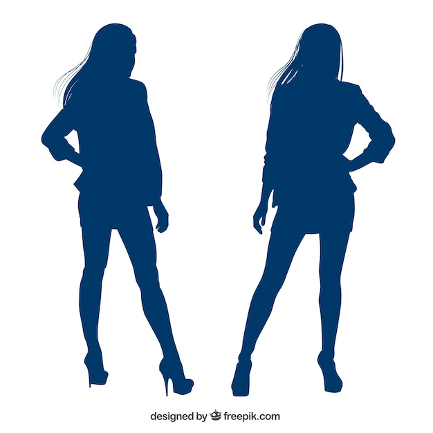 Woman silhouette Vector | Free Download