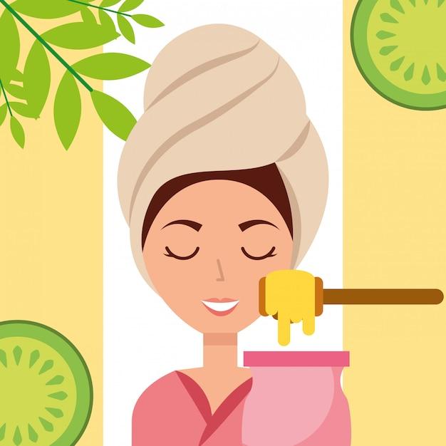 Woman spa wellness Premium Vector