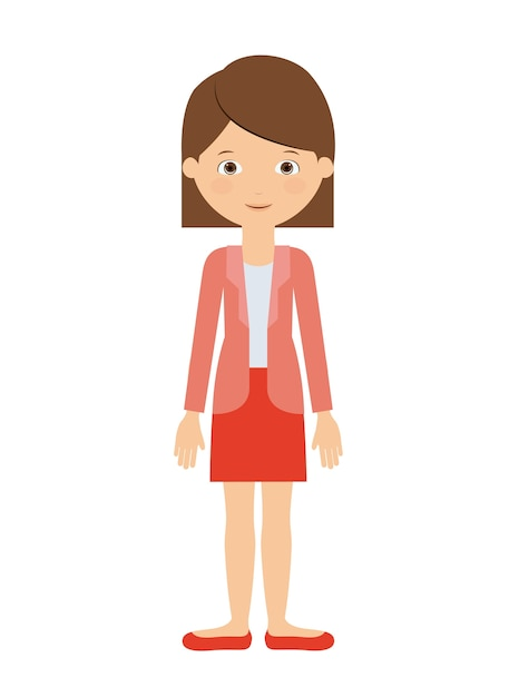 Premium Vector | Woman standing isolated icon design