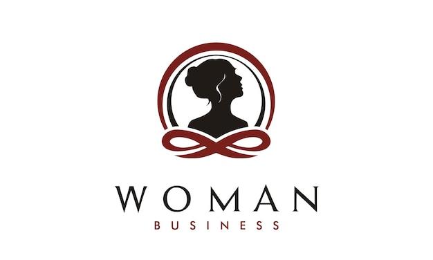 Woman therapy logo design inspiration Premium Vector