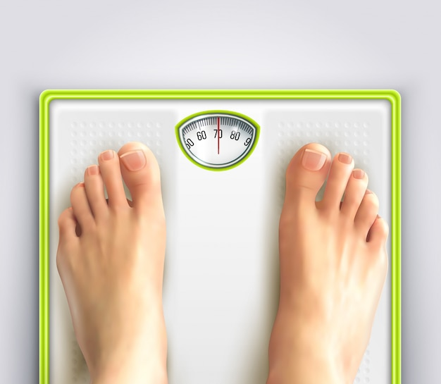 Woman weight loss illustration Free Vector