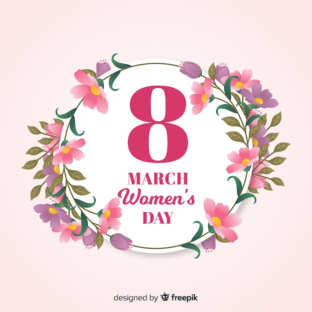 Womans day background Free Vector