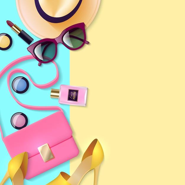 Women accessories poster Free Vector