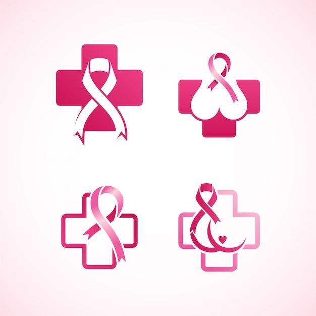 Women breast cancer logo Premium Vector