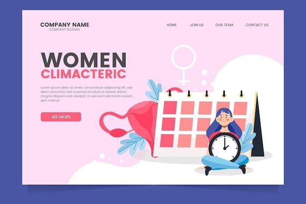 Climaterio femminile - pagina di destinazione Vettore gratuito