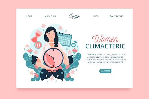 Климактерическая целевая страница для женщин Premium векторы