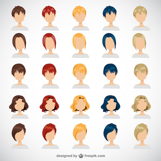 Women hairstyles Vector | Free Download