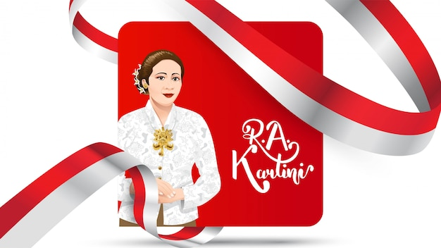 Women and human right in indonesia banner Premium Vector