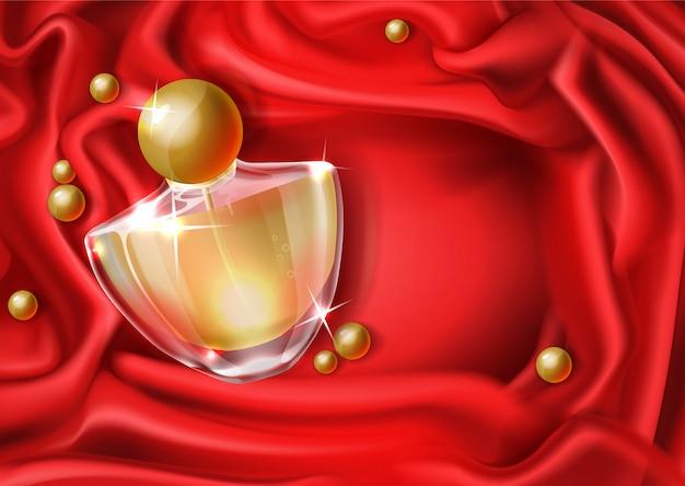 Women luxury perfume realistic Free Vector