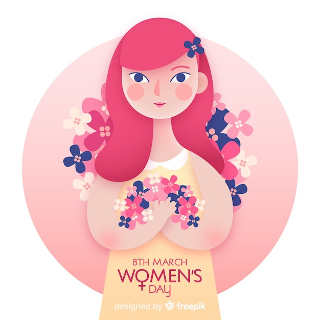 Women's day background Free Vector