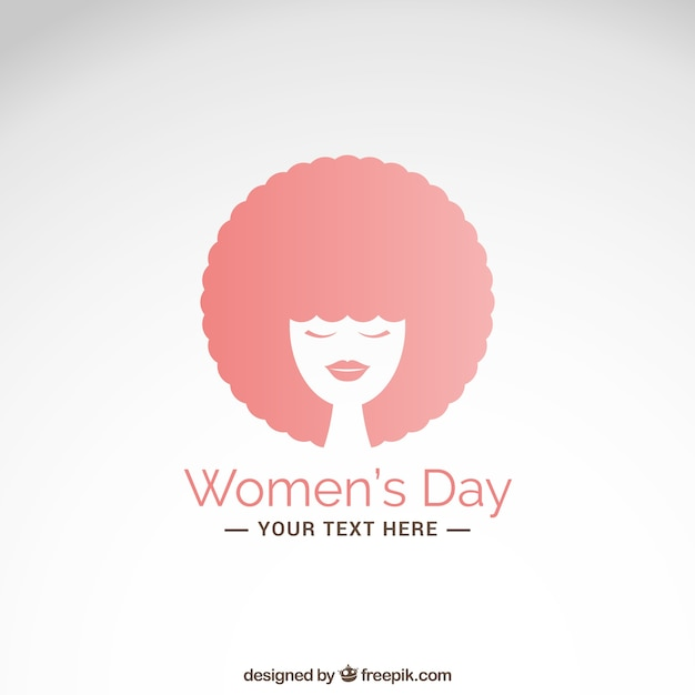 Women\'s day card with afro hair woman