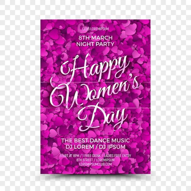 Women's day celebration flyer design template Premium Vector