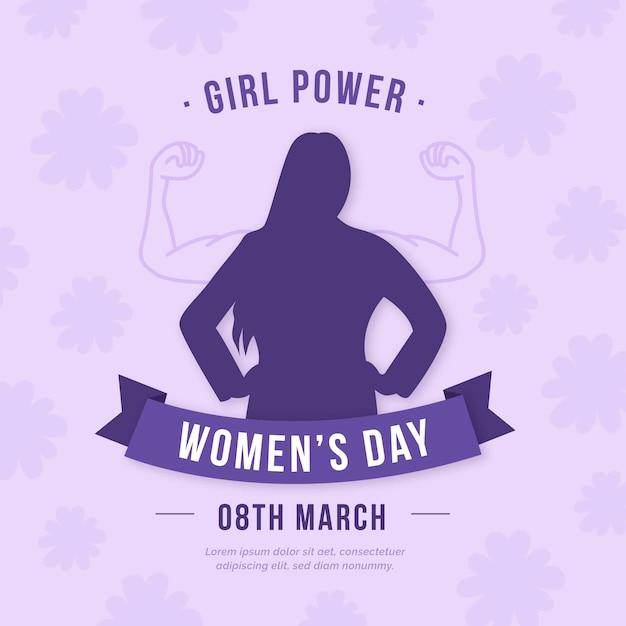 Women's day in flat design Free Vector