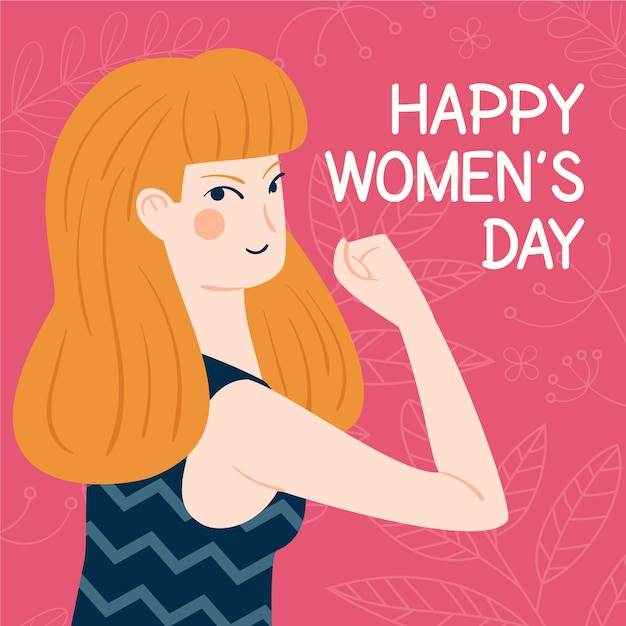 Women's day in hand drawn Free Vector