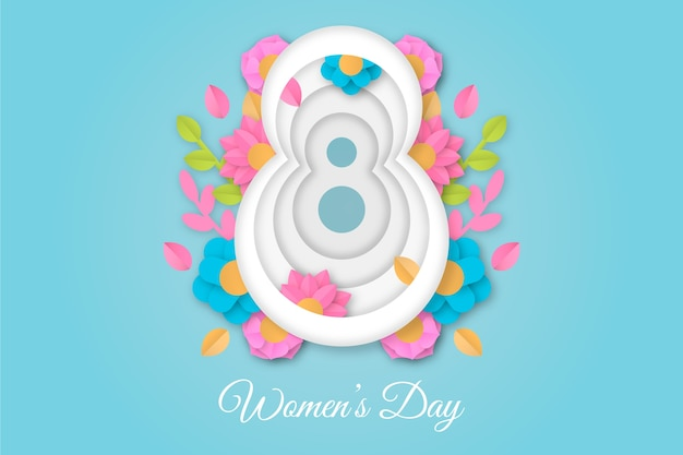 Women's day in paper style Free Vector