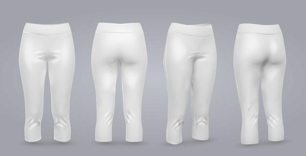 Women's leggings mockup. Premium Vector