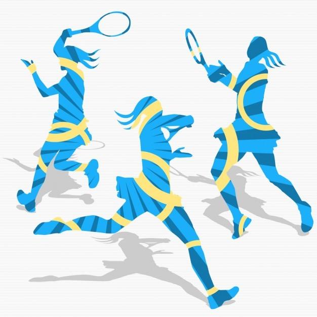 Women\'s tennis silhouettes