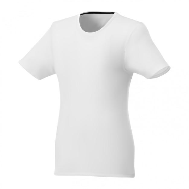 Women t shirt white template, short sleeve sport Premium Vector