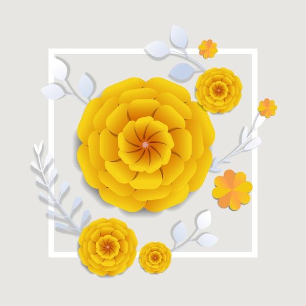 Женский день 8 марта праздник празднование баннер флаер или поздравительная открытка с декоративными бумажными цветами 3d рендеринг иллюстрация Premium векторы
