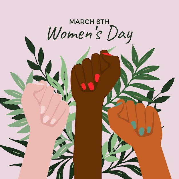 Womens day event drawing Free Vector