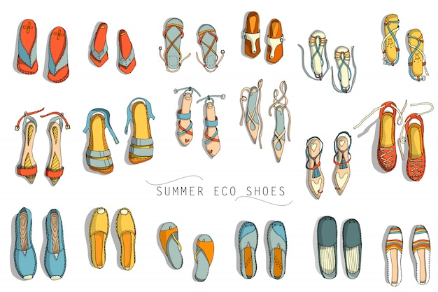 Womens summer shoes Premium Vector