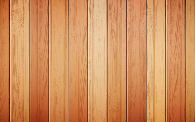 Wood background realistic Free Vector