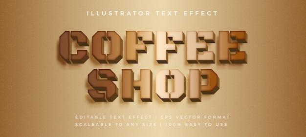 Эффект шрифта в стиле wood coffee text Premium векторы