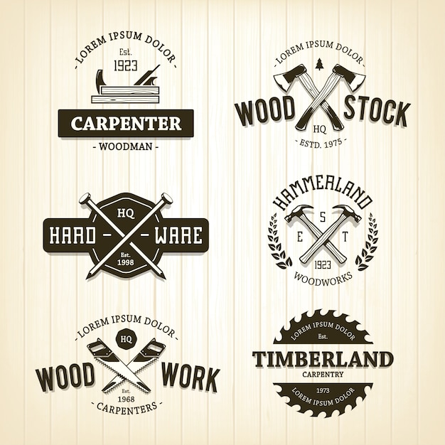 Woods Lumber Logo ~ Axe vectors photos and psd files free download