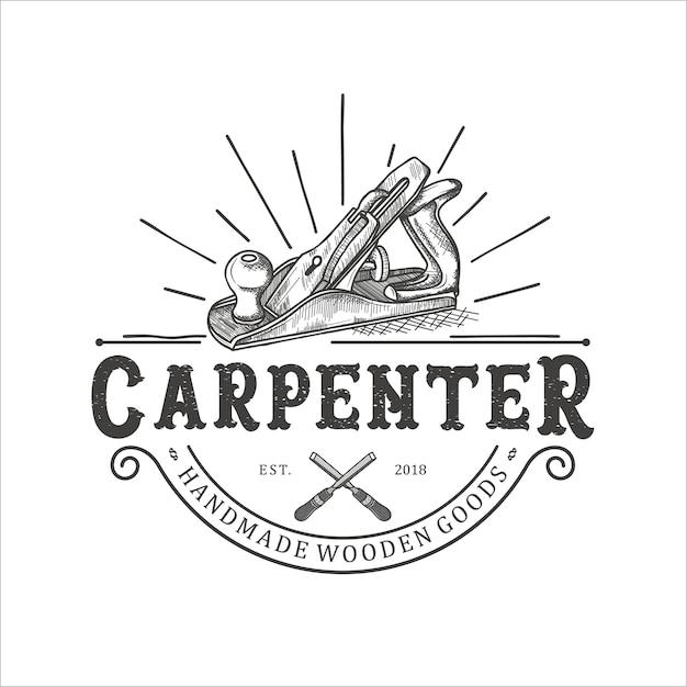 Wood shaving tool, carpenter Premium Vector