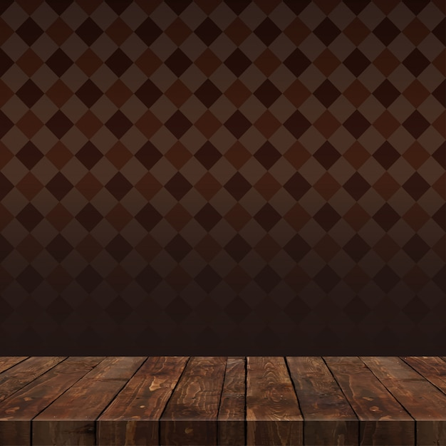Wood table with background Premium Vector