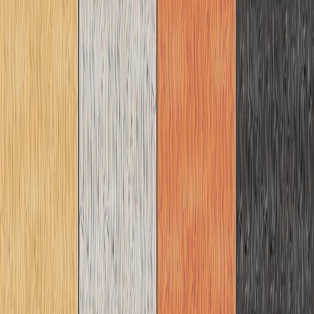 Текстура древесины на досках. вертикальные бесшовные модели. материал, бесшовные, деревянные панели, фон и паркет, векторные иллюстрации Бесплатные векторы
