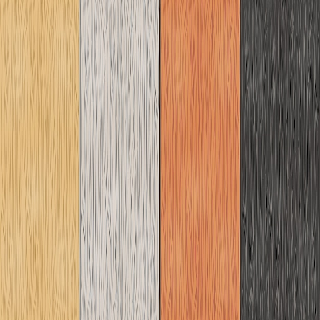 Wood texture on planks. vertical seamless patterns. material, seamless, wooden panel, background and parquet, vector illustration Free Vector