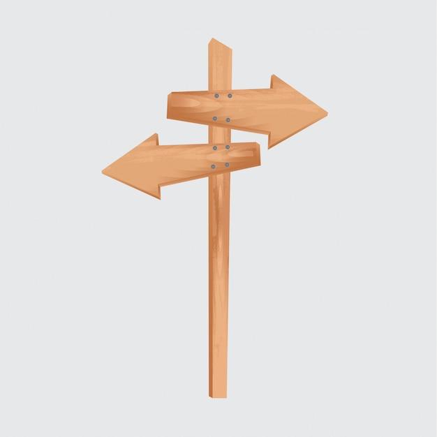 Wooden arrow Free Vector