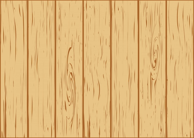 Wooden background from boards Premium Vector