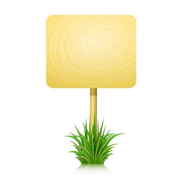 Wooden board for information Premium Vector
