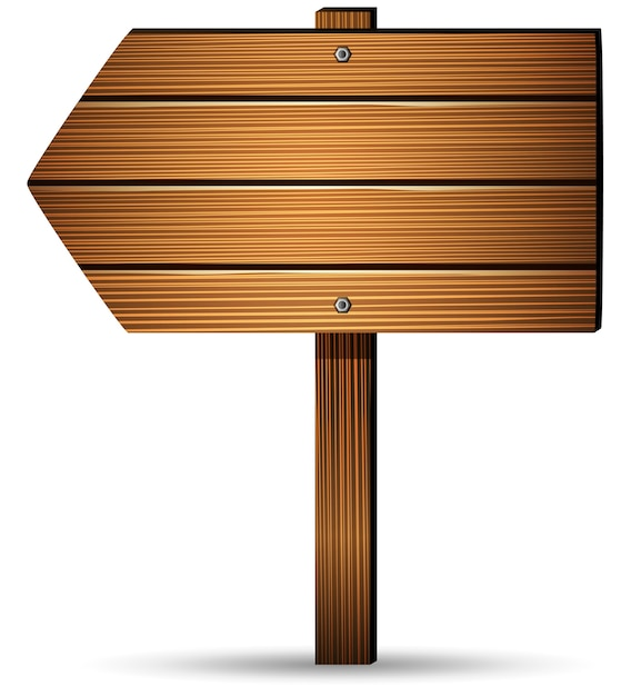 Wooden board on a white background Premium Vector