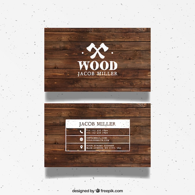 Wooden business card vector free download wooden business card free vector reheart Choice Image