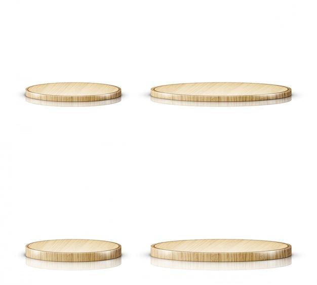 木製のまな板またはトレイ、現実的 無料ベクター