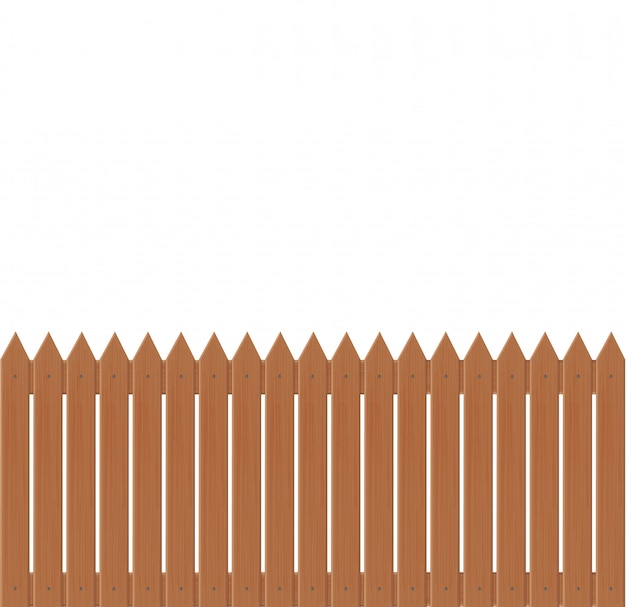 Wooden fence illustration  on white background.set icons fence made from  illustration Premium Vector