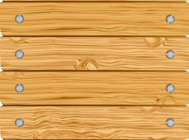 Wooden fence with horizontal screwed boards Vector Free Download