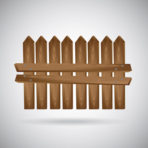 Wooden fence Free Vector