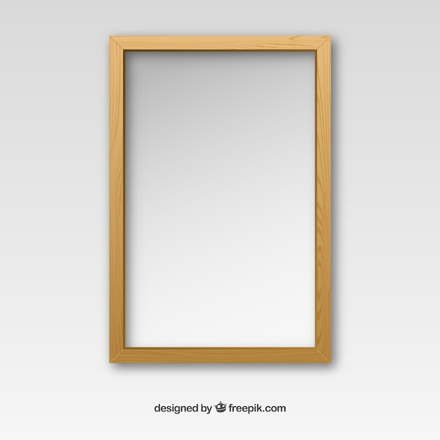 Captivating Wooden Frame Free Vector
