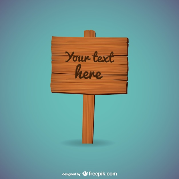 free sign templates - wooden sign template vector free download