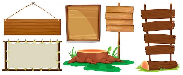 木製の看板 無料ベクター