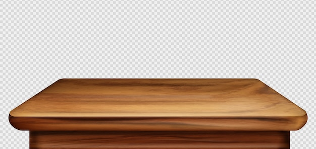 Wooden table foreground, vintage tabletop front view Free Vector