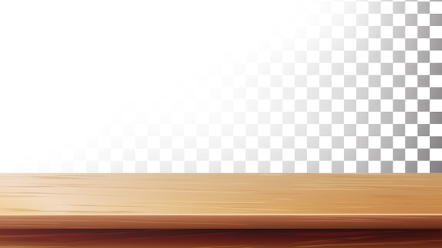 Wooden table top. empty stand for display your product Premium Vector