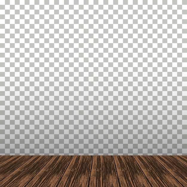 Wooden table on the transparent background Premium Vector